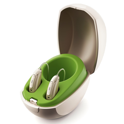 Phonak Hearing aids in a case